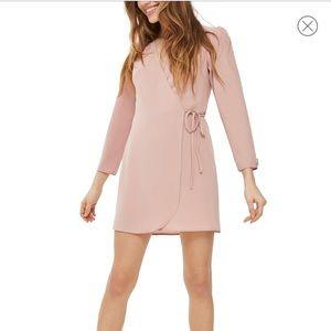 [Topshop] Crepe Wrap Minidress